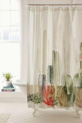 Urban Outfitters Cactus Landscape Shower Curtain 59 MSRP