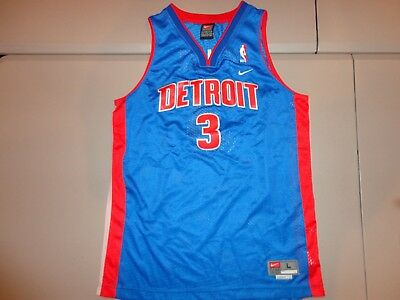 Vintage Nike Detroit Pistons  3 Ben Wallace NEW wo tags SEWN NBA Jersey  Youth L 08ff28a42