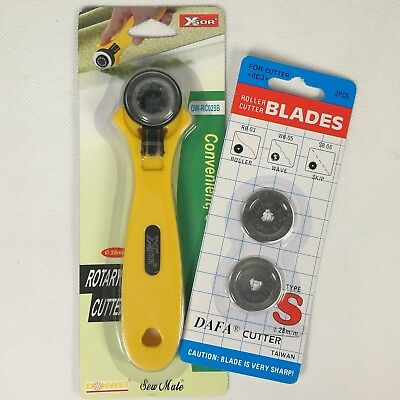 Rotary Cutter 28mm Fabric Cutter with Extra Blades