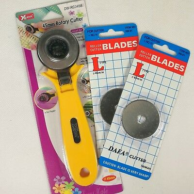Rotary Cutter 45mm Fabric Cutter with Extra Blades
