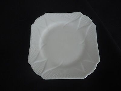 vintage shelley china white plate dainty square