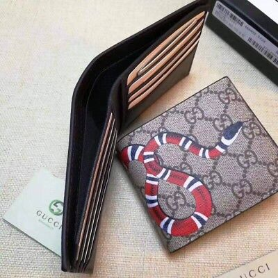 more photos 007f1 5d0a2 GUCCI KINGSNAKE PRINT GG Supreme Wallet. MSRP 480