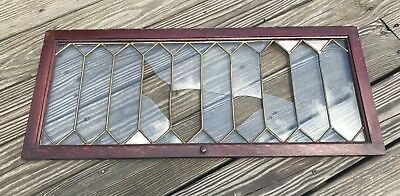 Vtg Globe Wernicke Barrister Bookcase LEADED GLASS DOOR Replacement PART Antique