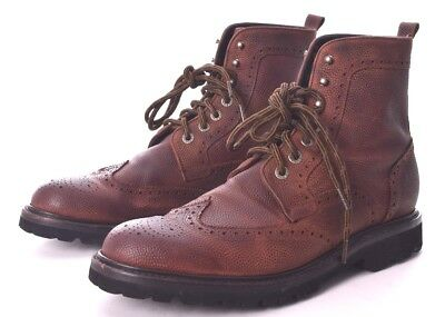 f0ac4d6b205 WOLVERINE Percy Brown Grain Leather Wingtip Ankle Lace Up Boots Size 11.5  EUC