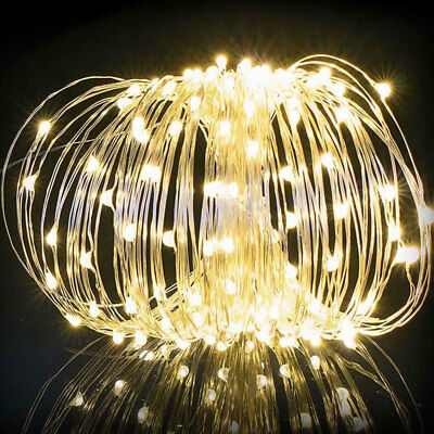 100 LEDs Solar Powered String Copper Wire Fairy Garde Xmas Party Outdoor Lights