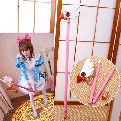 Anime Card Captor Sakura Kinomoto Bird Cane CLEAR CARD Magic Wand Cosplay Props