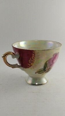 Vintage Hand Painted Gold Plated Japanese Teacup Tea Cup Flower Design