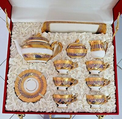 Real Hand Painted Thai BENJARONG Bone China Ceramics Porcelain Coffee & Tea Set
