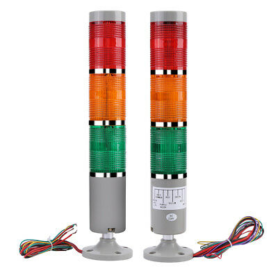 110/220V Alarm Warning Light Industrial LED Signal Tower Buzzer Red/Green/Yellow
