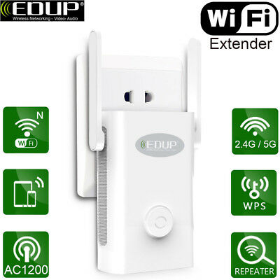 EDUP Dual Band AC 1200Mbps WiFi Repeater Wireless Range Extender Booster Network