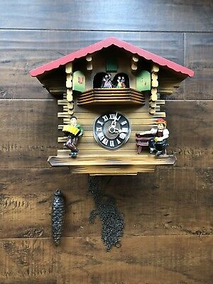 Vintage German JEC Black Forest? Musical Cuckoo Clock with Dancers for Repair