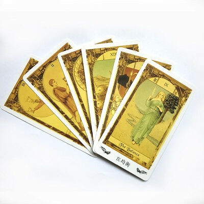 Tarot 78 Cards Deck divination fate mystic English Chinese desk game gift