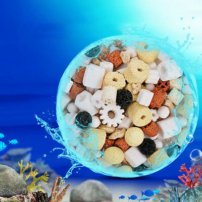 Lot Aquarium Bio Ceramic Rings Porous Fish Tank Filter Media Nitrifying Bacteria