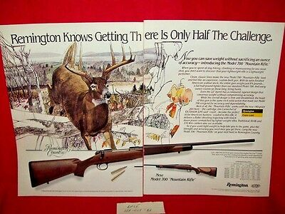 Remington Mountain Rifle 2 Page Printed Ad From Rifle Sep-Oct '86