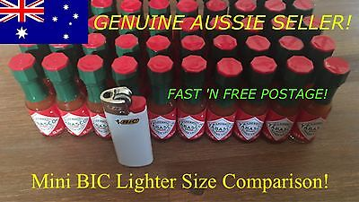 10x 3.7mL EDC Prepper US Ration Original Tabasco MINI Sauce Glass Bottle Red MRE