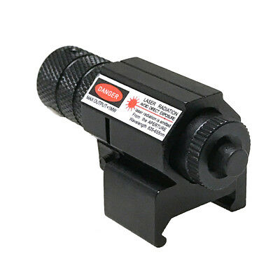 Tactical New Mini Red Laser Sight Scope Fit 20mm Picatinny Weaver Mount Pistol