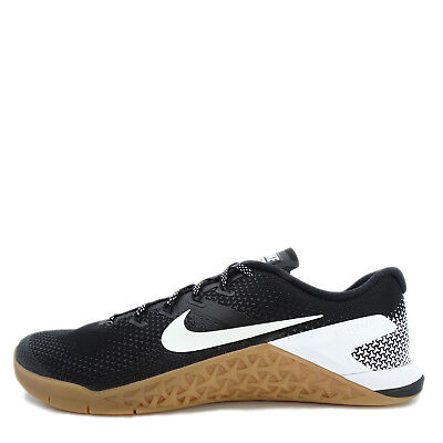 3fbb647338f1e9 NEW MENS NIKE Metcon 4 87453-006 Black White Gum Training Shoes c1 ...