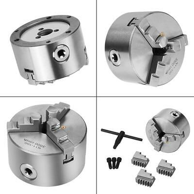 K11-100 3-Jaw 4inch Self-Centering Metal Lathe Chuck For CNC Milling Drilling IS