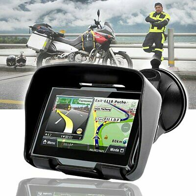 "4.3"" Grey Bluetooth GPS Motorcycle Car Navigation Waterproof Motorbike SAT NAV"
