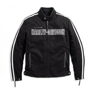 Harley Davidson Mens Rally Waterproof Black CE Approved Jacket