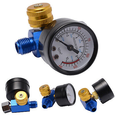 "1/4"" BSP HVLP Paint Sprayer Air Regulator Pressure Gauge Tool Diaphragm Control"