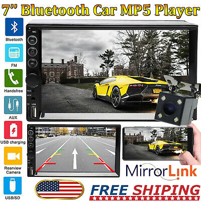 7inch Stereo Bluetooth MP5 Player Car Radio HD Touch Screen In-Dash Double 2Din