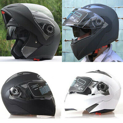 1PC Full Face Motorcycle Helmet Dual Visor Modular Flip Up Sun Shield Road Bike