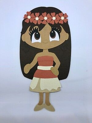 Moana fully assembled paper piecing / die cut