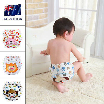 AU-STOCK Infant Toddler Kid Baby Cloth Diaper Cover Toilet Training Pants Nappy
