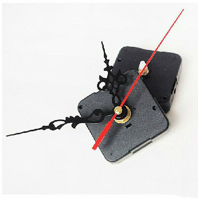 DIY Quartz Movement Silent Clock Mechanism Black and Red Hand Part Kit Tool