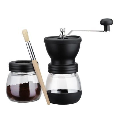 Manual Coffee Grinder with Storage Jar ,Soft brush , Conical Ceramic Burr Q E1Z5