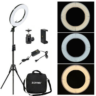 """Zomei 18"""" Dimmable 240 LED Ring Light 5500K 55W Photography Lamp +Tripod Stand"""