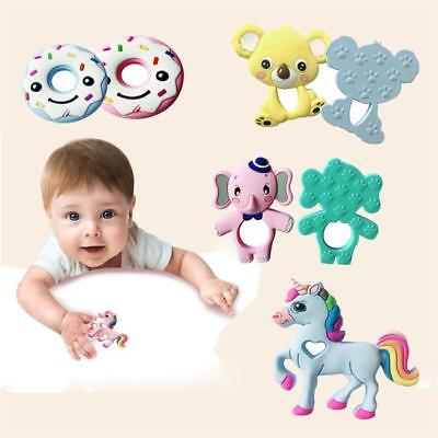New Silicone Animals Baby Teether Teething Pendant Necklace Chew Toy T
