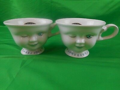 Pair Bailey's Irish Cream Winking Cup Signed by Helen Hunt for L A Youth Network