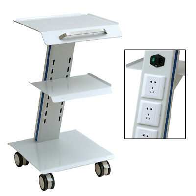 Medical Trolley Cart Mobile Cart for Dental Equipment Cart  3 Layers with outlet