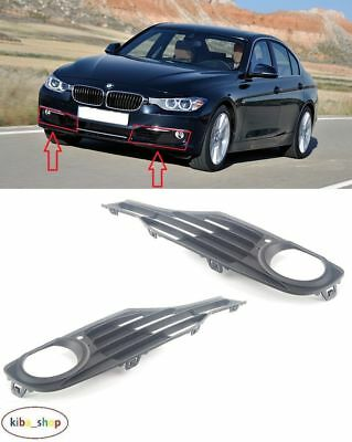 Bmw 3 F30/F31 (Luxury) 12 - 16 Front Bumper Fog Light Lamp Grilles Left + Right