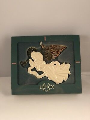 "Lenox ""Christmas Gold"" 1996 Heralding Angel Ornament w/ Box (Multiple Available)"