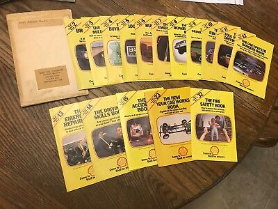 Vintage 1970s Shell Oil Answer book series gasoline fuel driving w/ Cover 2-15 +