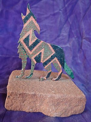 Steel Images Inc. Wolf Red Sand Stone Figurine Sculpture ~ FREE SHIPPING