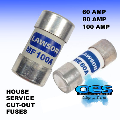 House Mains Service Cut-Out Fuses Small And Large 60 Amp 80 Amp And 100 Amp