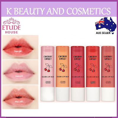 [Etude House] Cherry Sweet Color Lip Balm 4g Colour Tint