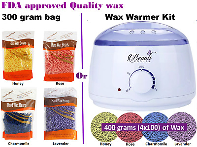 Wax Warmer Kit / Depilatory Hard Wax Beans Waxing Pellet Painless Hair Removal