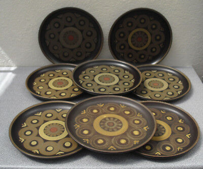 Denby Arabesque dinner plates 10 inches diameter set of 8