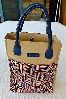 Longaberger Small Tote Shopper Lunch Bag Homestead Old Glory