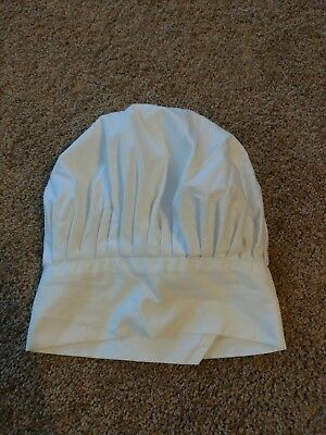 USA Seller White Chef/Baker Hat Cotton Blend Adjustable Velcro® Closure