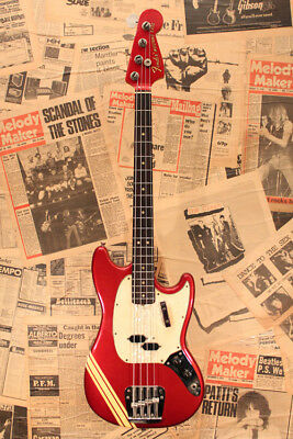 Fender 1970 MUSTANG BASS Competition Red Used Electric Bass FREE Shipping