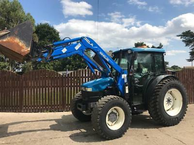 New Holland Tn65D 4 Wheel Drive Tractor With New Holland Loader & Bucket