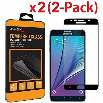 [2-Pack] For Samsung Galaxy Note 5 FULL COVER Tempered Glass Screen Protector