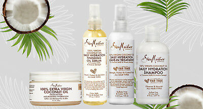 shea moisture 100% virgin coconut oil hair and body care products-Free UK Post!!