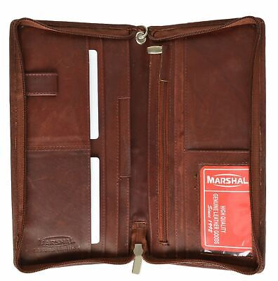 Burgundy Leather Wallet Passport Cover ID Holder Credit Card Travel Organizer